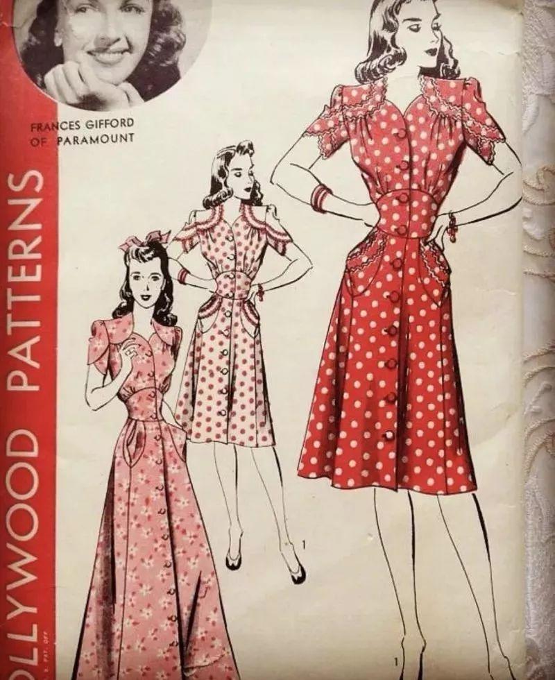 这种简单设计的茶歇裙,把睡裙稍作改良,让它既能裹身修饰腰线,还能