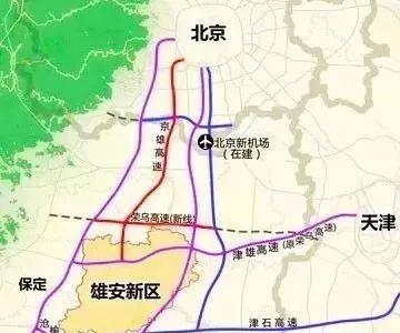 雄安起步区规划图