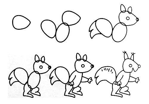 各种小动物简笔画图片