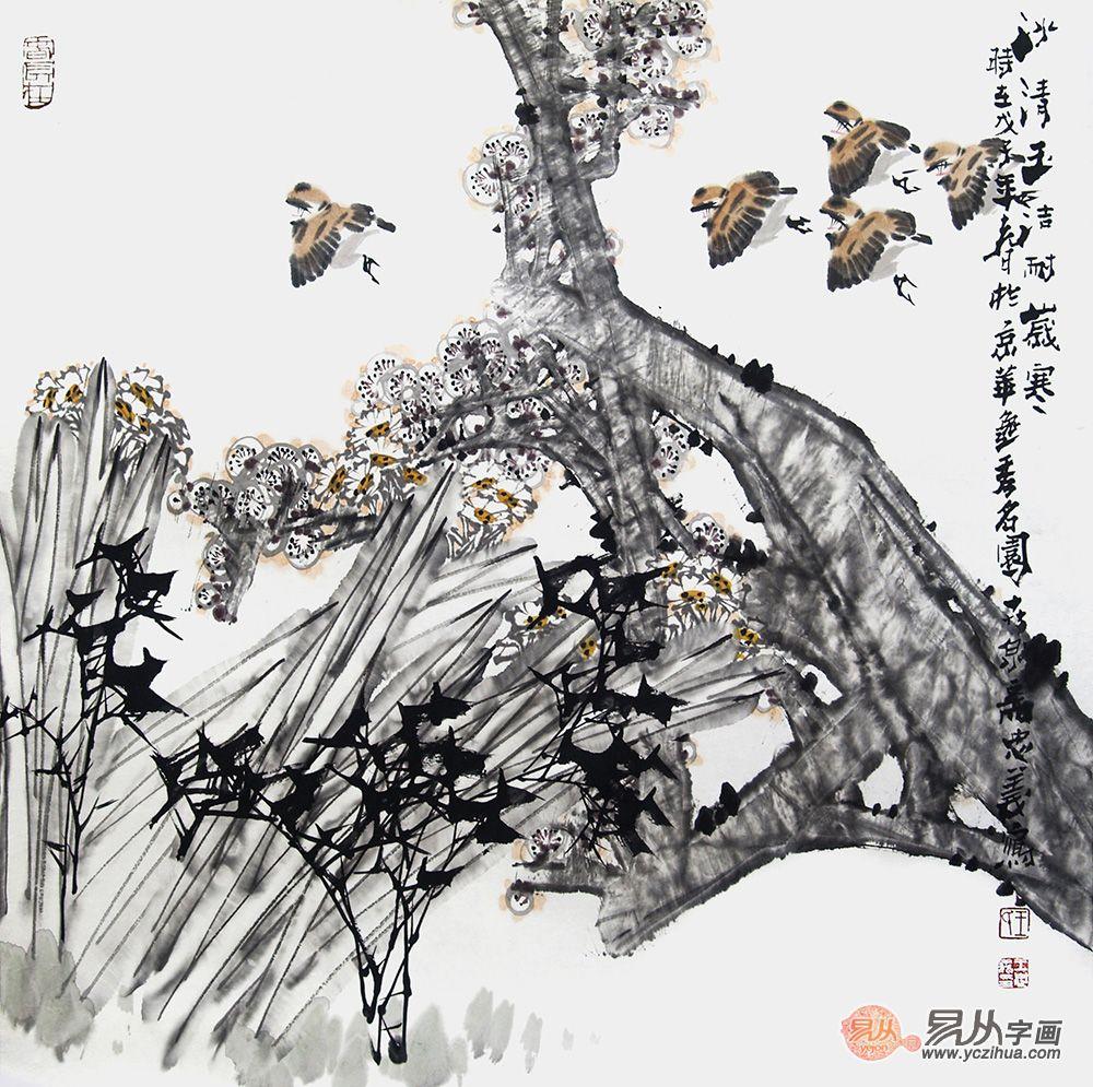 擅画写意花鸟的画家,王忠义作品组图欣赏