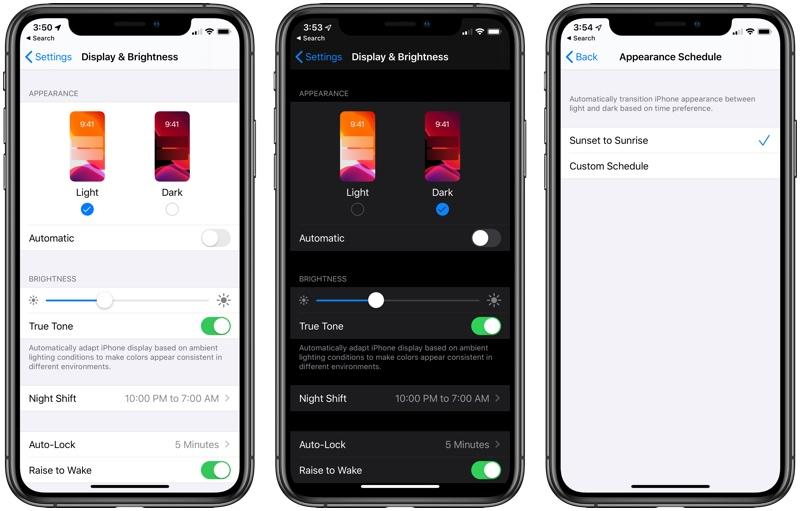夜猫子的福利:苹果ios13推出黑暗模式