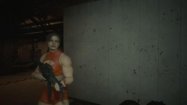 《生化危机2:重制版》克莱尔Mod 变身肌肉女好强悍 v118.com