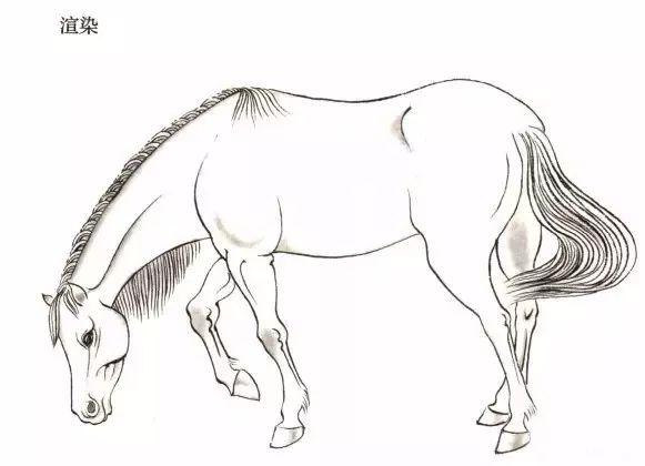 马的工与写 简笔画法