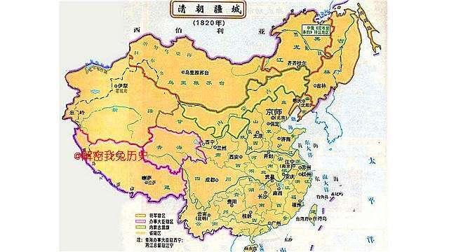 """明成祖时期明朝最大疆域(1424年) 明朝疆域在嘉靖以前大体上是""""东起朝鲜,西据吐番,南包安南,..   明朝和清朝谁的版图和疆域大:比较两个朝代最大疆域,清朝大于明朝.图片"""