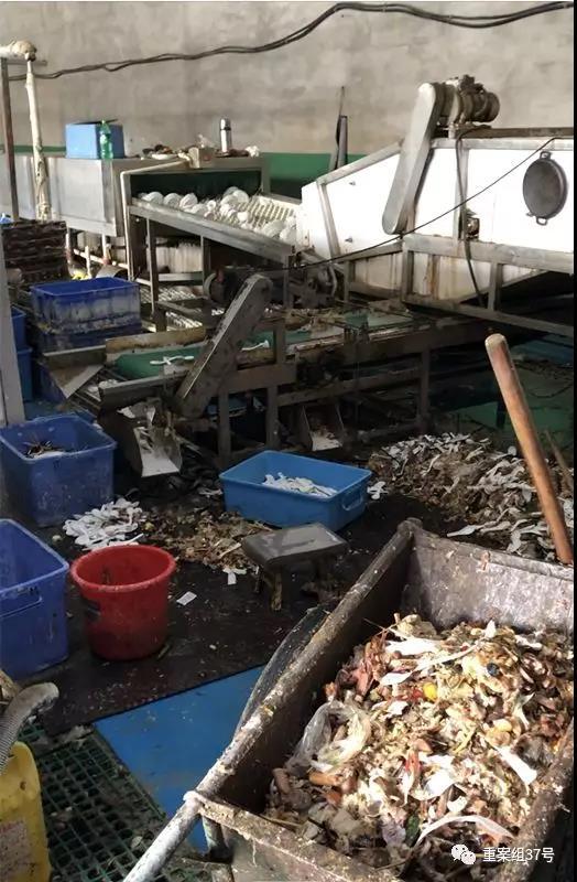 消毒餐具厂就干净吗?车间堆积食物残渣...