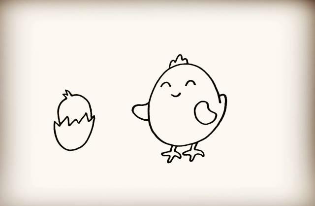 简笔画 鸡妈妈和小鸡