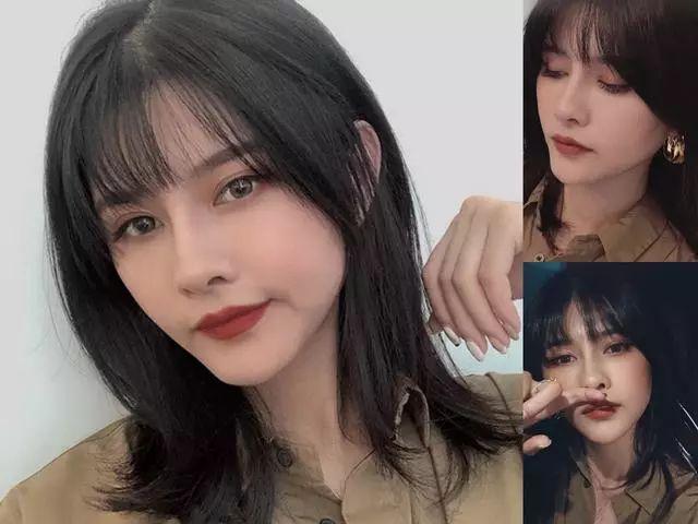 圆脸女生刘海�yg�_额头高,圆脸形的女生,换上这几款刘海发型轻松瘦脸!