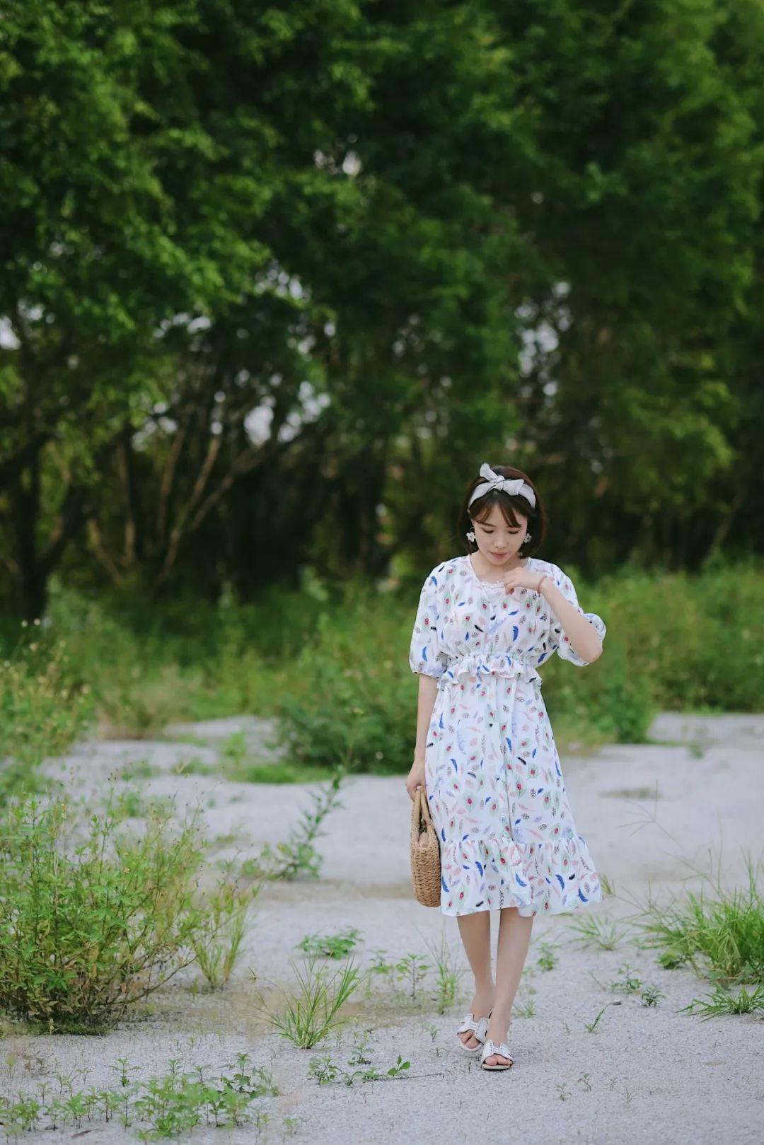 麻棉中袖连衣裙的制作?#22363;? border=