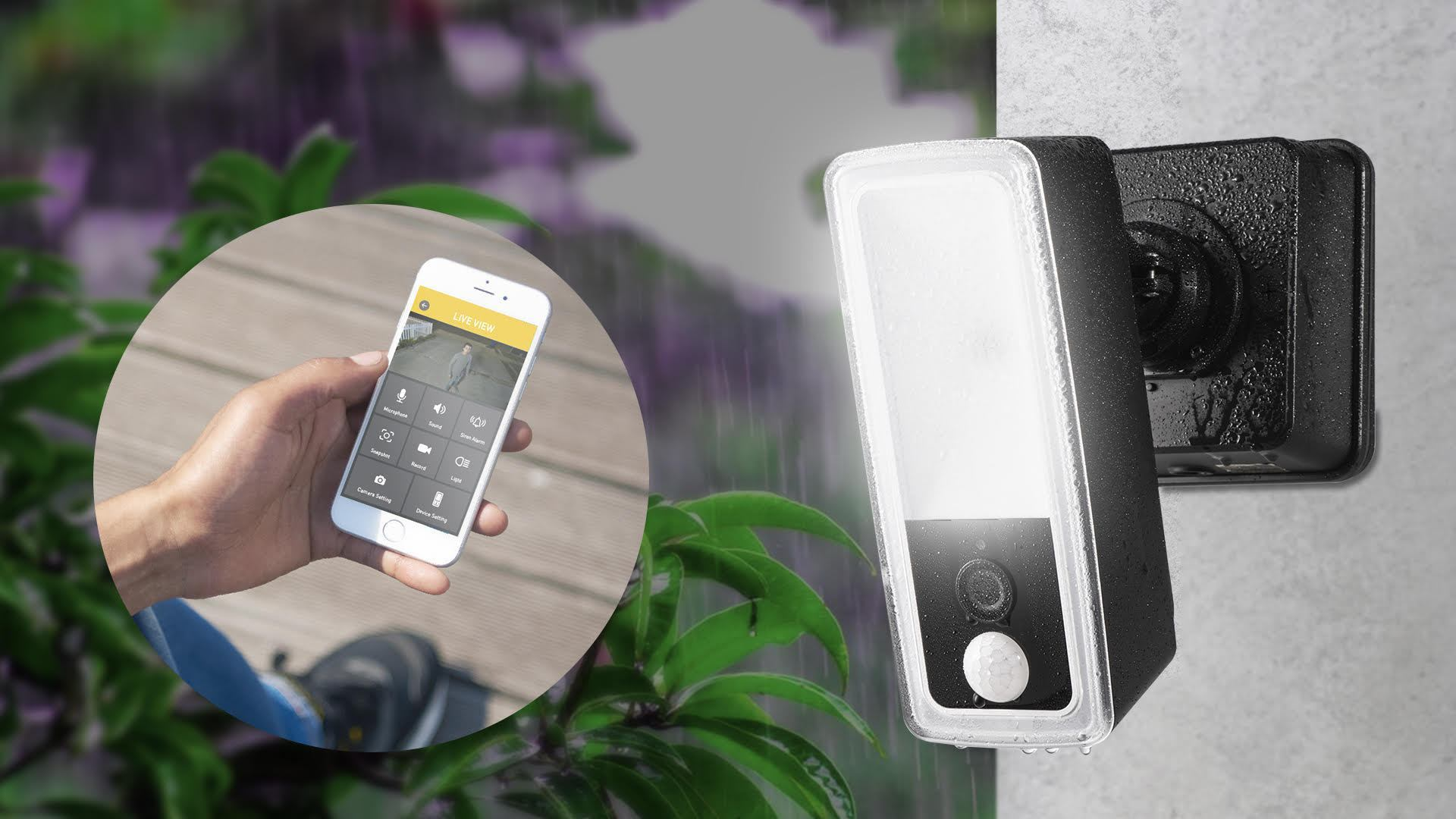 科达:配置运动激活的安全摄像头,泛光灯+报警