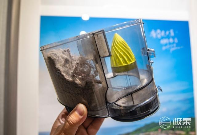可以看见分离式的气动设计,灰尘都在尘桶,气动过滤器不堵塞.图片