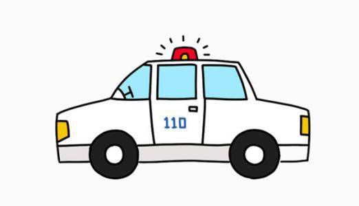 简笔画 110警车简笔画怎么画