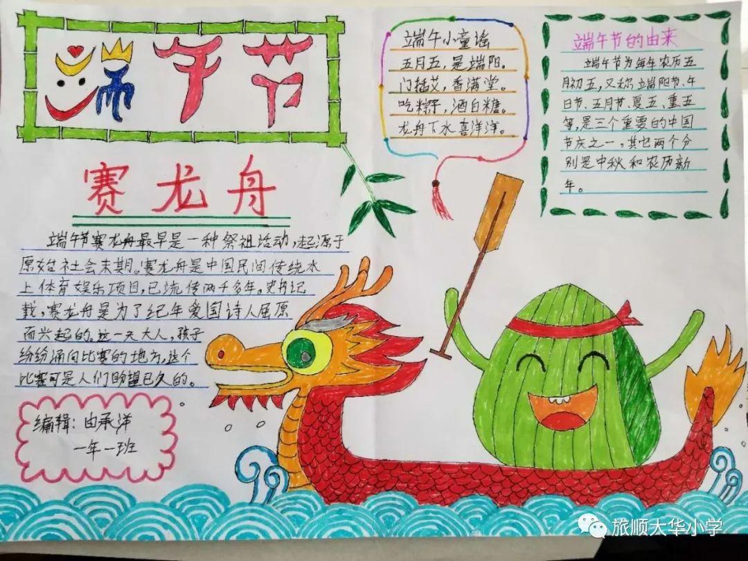 科 课程||传习俗,品文化——大华端午节主题系列活动之(5)绘手抄报