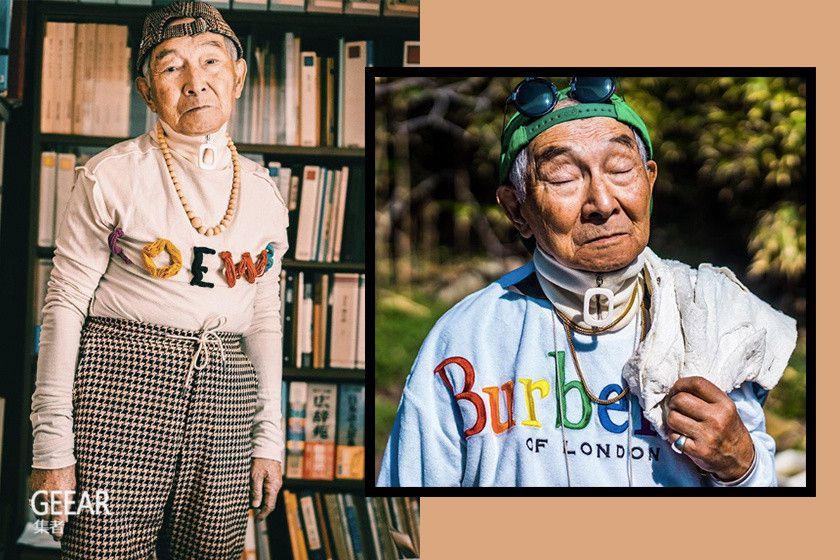 退休老师变潮人:这位一身潮牌的84岁日本时尚老爷爷!