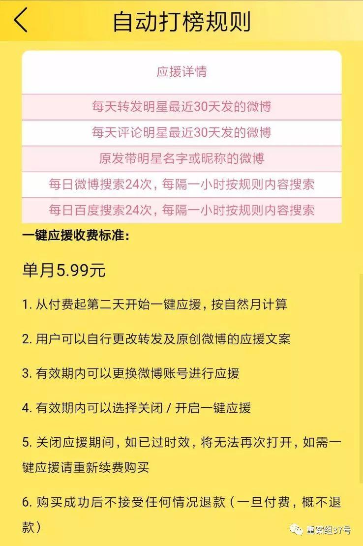 """花钱送""""爱豆""""上热搜:""""自动打榜""""6元包月"""
