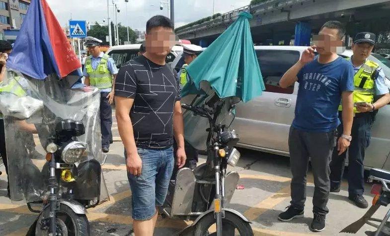 严查摩托车电单车无证驾驶 广东深圳交警全市整治摩电
