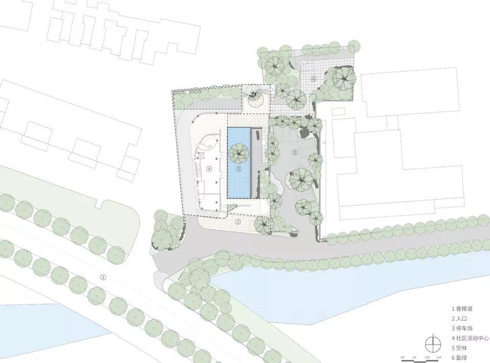 △总平面图   项目位置:苏州姑苏区   项目面积:0.8ha   △宁静的空间   △转角的天光   △从室内看向庭院