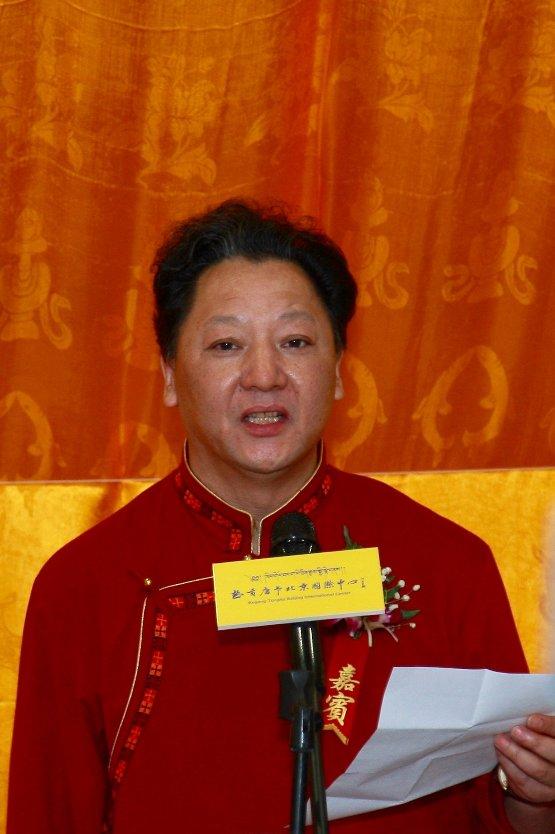 著名画家何家英先生题字题匾 热贡唐卡北京国际中心6
