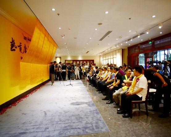 著名画家何家英先生题字题匾 热贡唐卡北京国际中心8