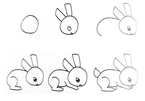 兔子的简笔画画法 教你怎么画兔子