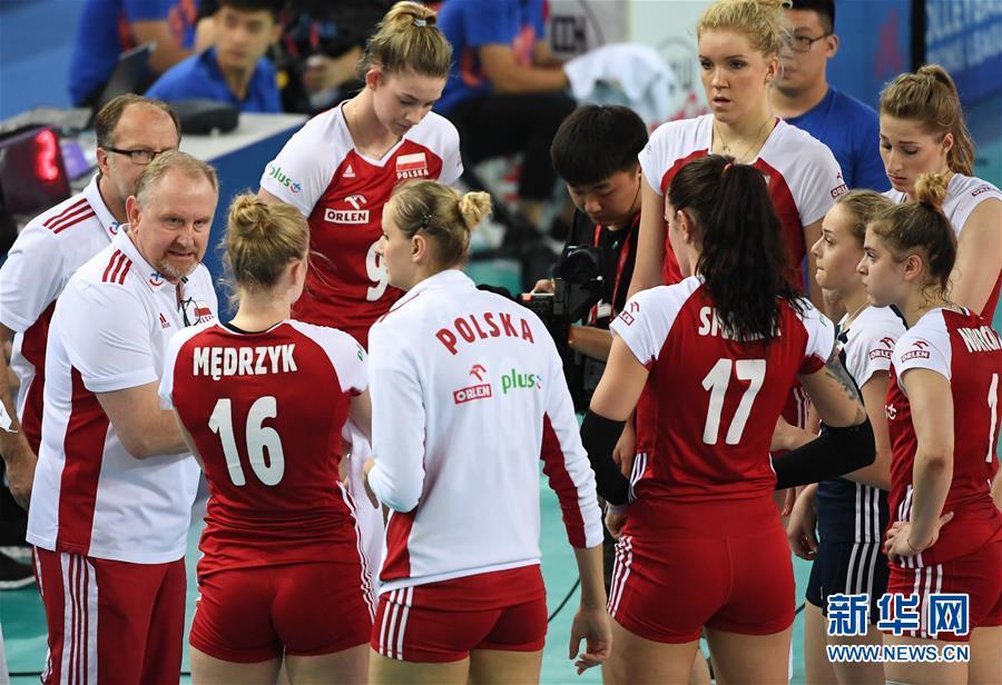 世界女排联赛江门站:美国胜波兰
