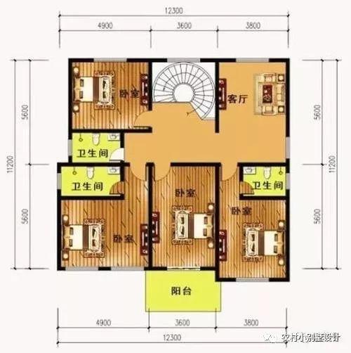 5套小二层农村别墅,实用农村自建房, 带柴火灶, 卧室多