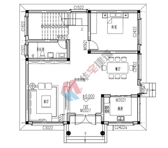 120平米农村二层自建房设计图,美观实用,附装修效果图图片