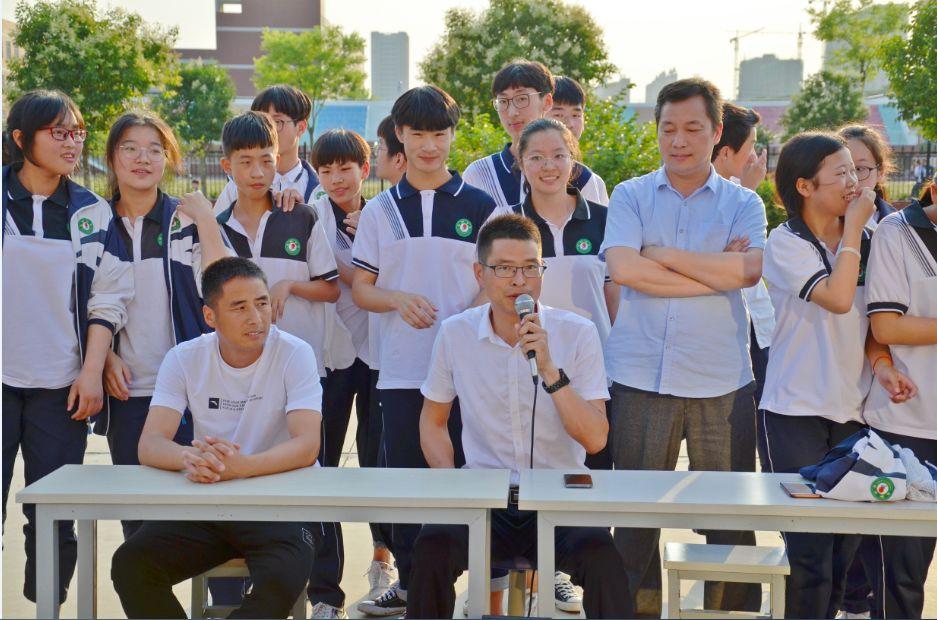 固始县永和中学举行2019届毕业班师生篮球友谊赛