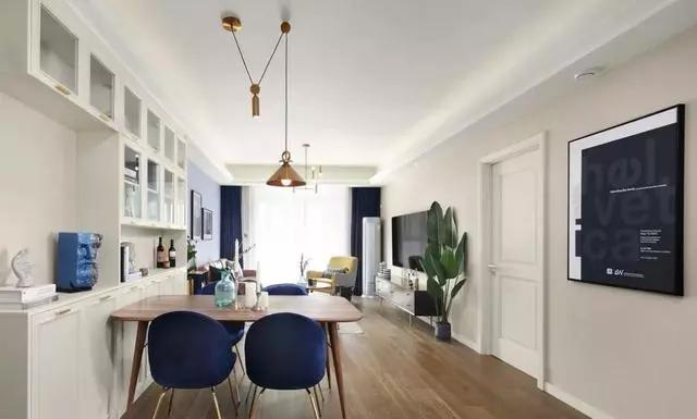 123平北欧风三居室,精致的设计营造出轻奢 浪漫的家居氛围
