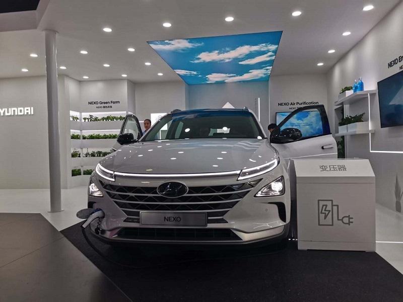 现代NEXO氢燃料车亮相CES亚洲展