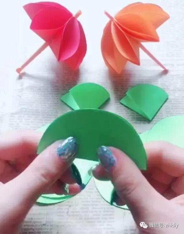 diy 一束纸艺鲜花,送给不过父亲节的爸爸吧!(附教程)图片