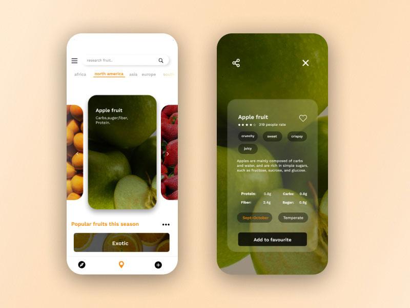 水果APP产品展示界面设计