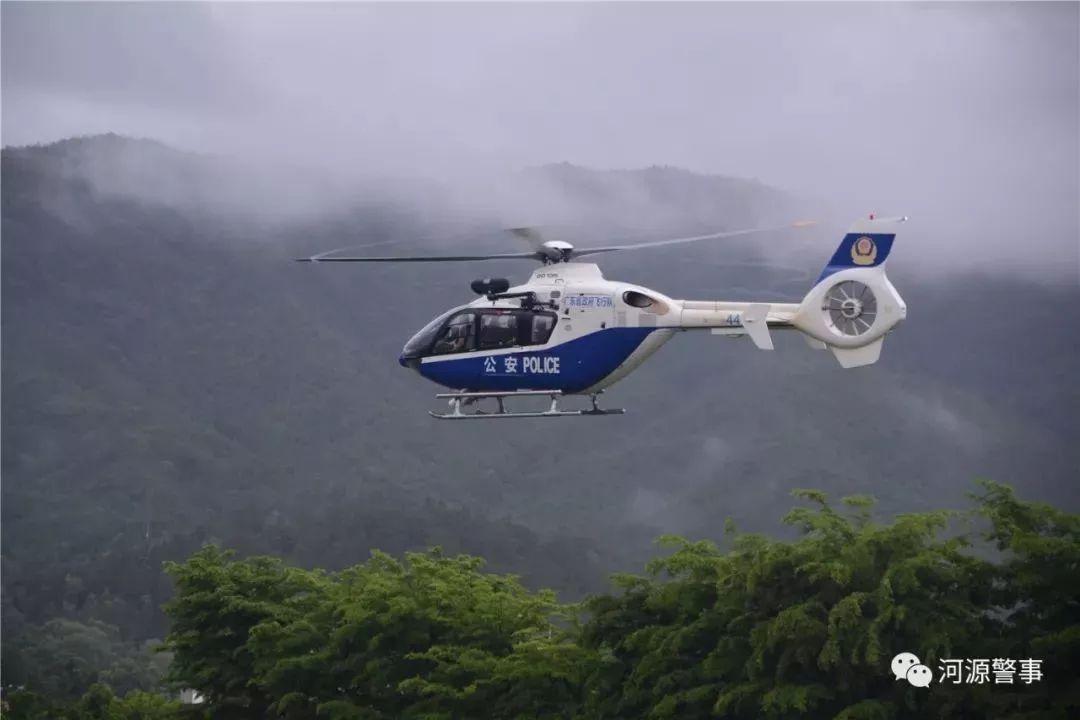 河源出动直升飞机转移群众!