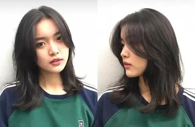 搭配中分的八字刘海,简直太修饰脸型了,2019年这样的瘦脸发型你真的不图片