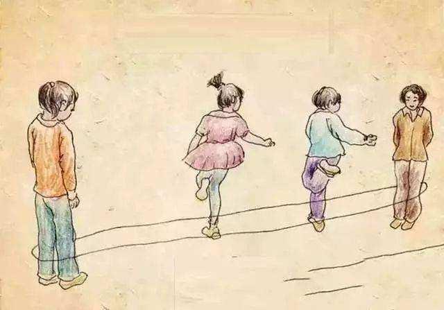 想起童年跳皮筋