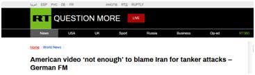 德国外长:美发布视频不足以证明伊朗袭击阿曼湾油轮_德国新闻_德国中文网