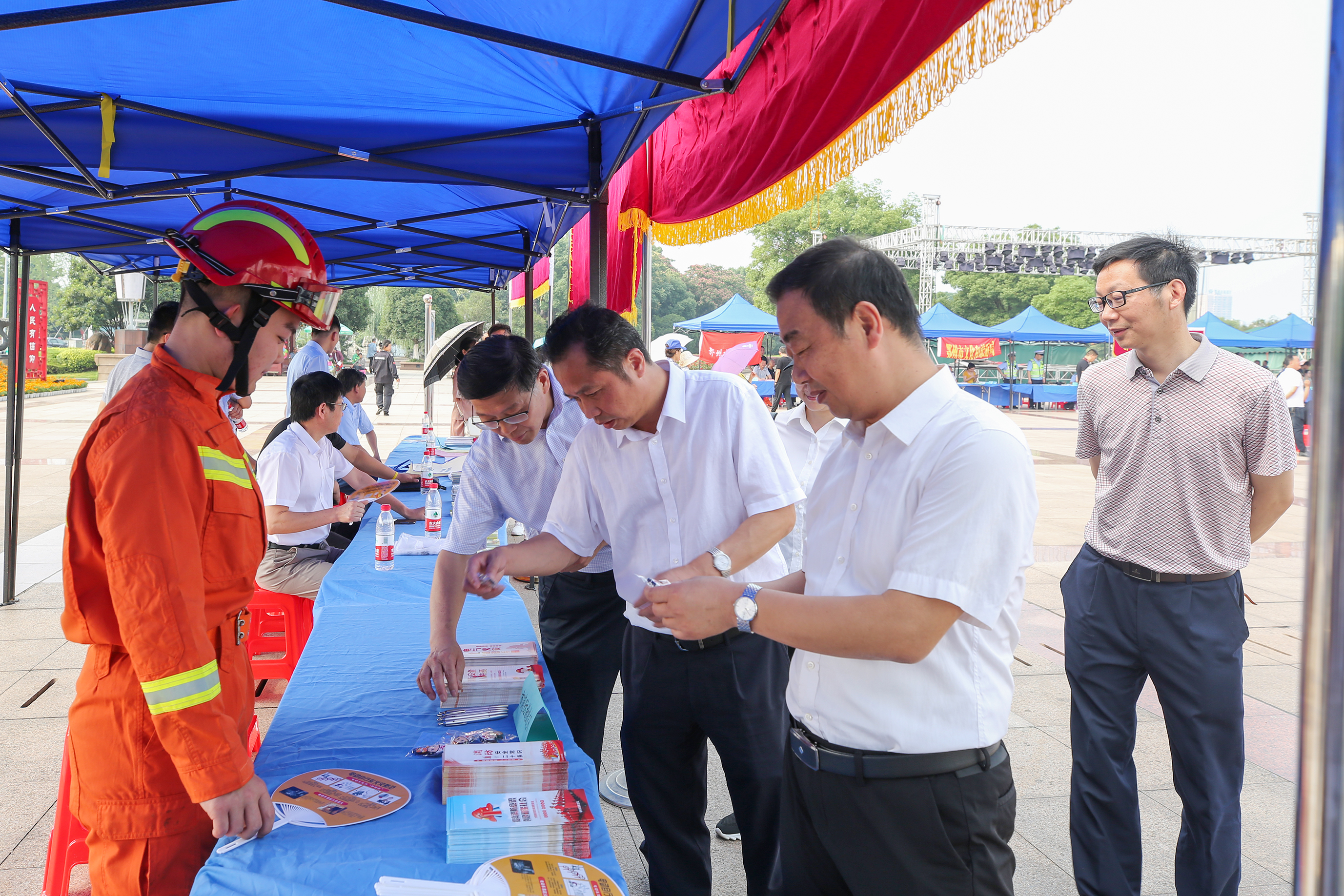 鄂州市举办安全生产月活动,