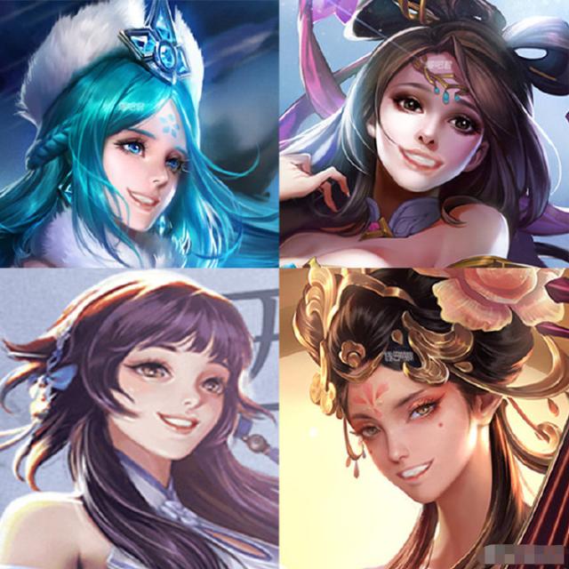 王者荣耀:当三大美女拥有西施的同款笑容,你的假笑女孩请签收!