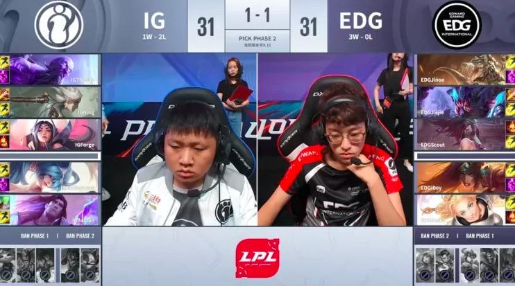 LPL夏季赛:IG新中单Forge首次出战表现如何?宋晓峰可以的