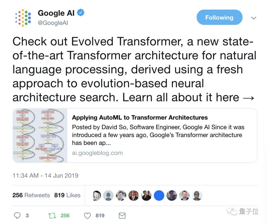 已开源!谷歌将AutoML应用到Transformer架构,实现机器翻译最佳性能