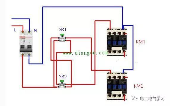 交流接触器常用接线电路图和实物图 超实用!