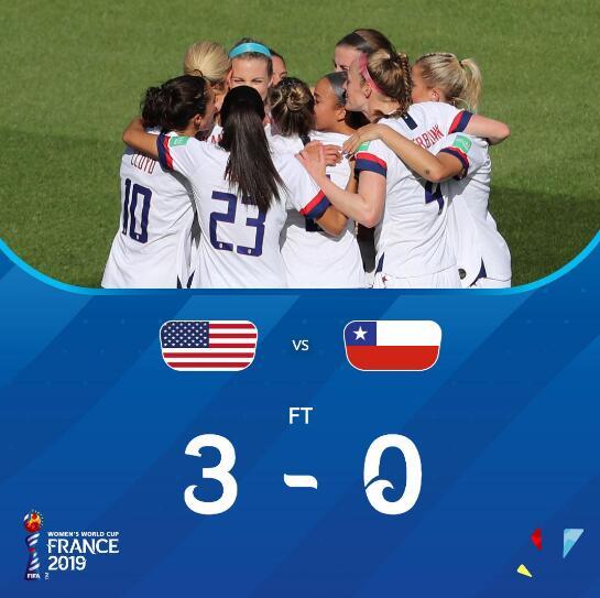 女足世界杯-劳埃德刷纪录又失点 美国3-0进16强