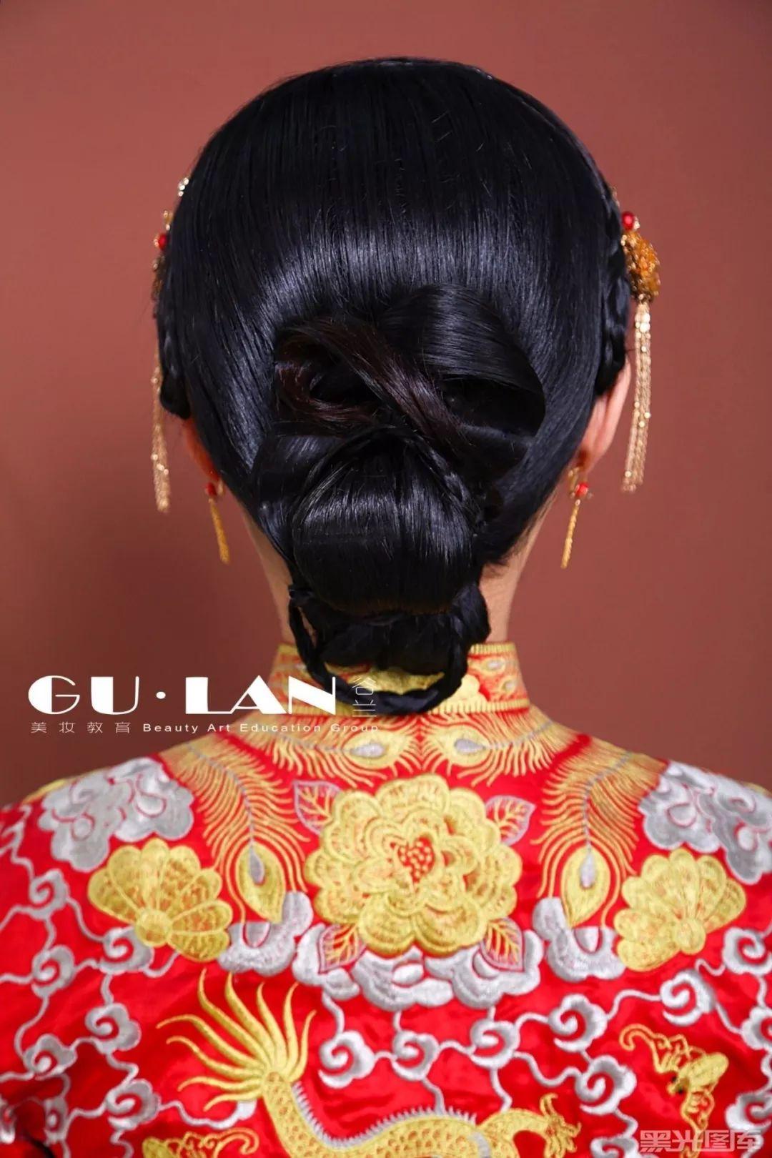 简单的中式新娘发型, 也可以是洋气婉约呦!