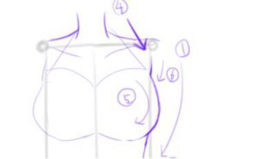 女生上半身怎么画 教你画出女性优美的轮廓 插画教程