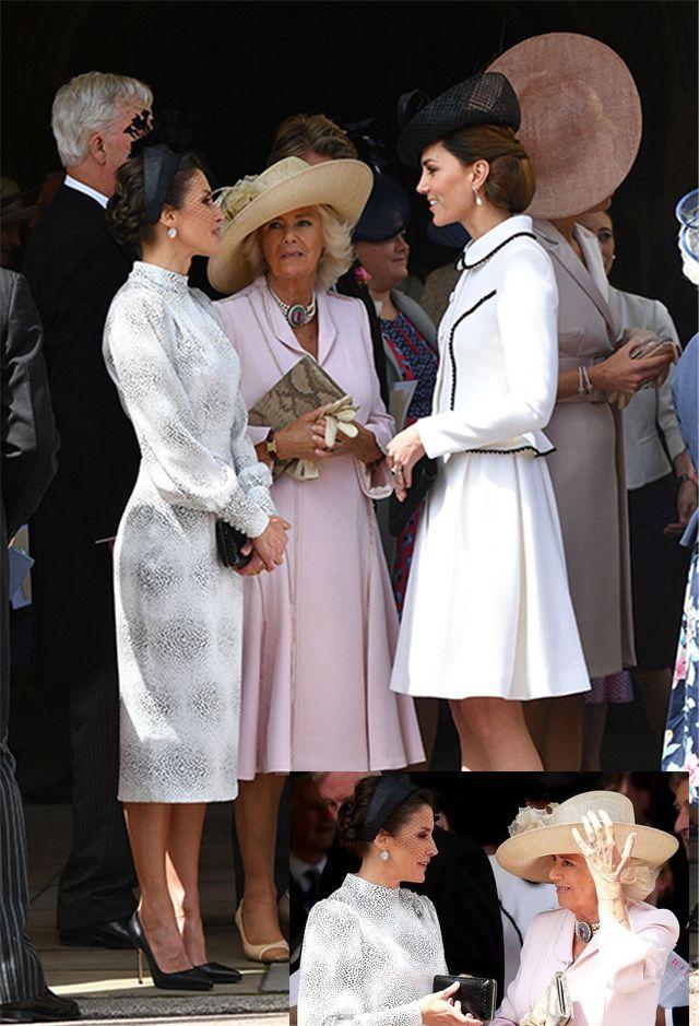 """原创 凯特王妃白衣低调,与马克西玛王后,莱蒂齐亚并称""""嘉德三美"""""""