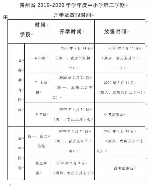 遵义家长,贵州中小学2019暑假放假时间出炉了