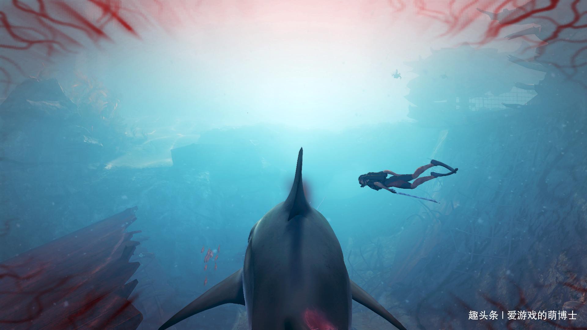 角色互换,玩家在 吃人 中扮演鲨鱼,人类成为食材