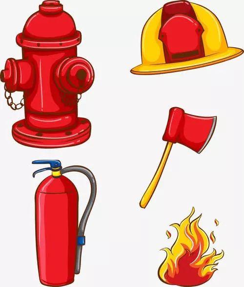 关键词 : 火灾,明火,消防安全,消防栓,灭火器,救火工具,卡通手绘,斧头,安全帽,红色,火灾报警