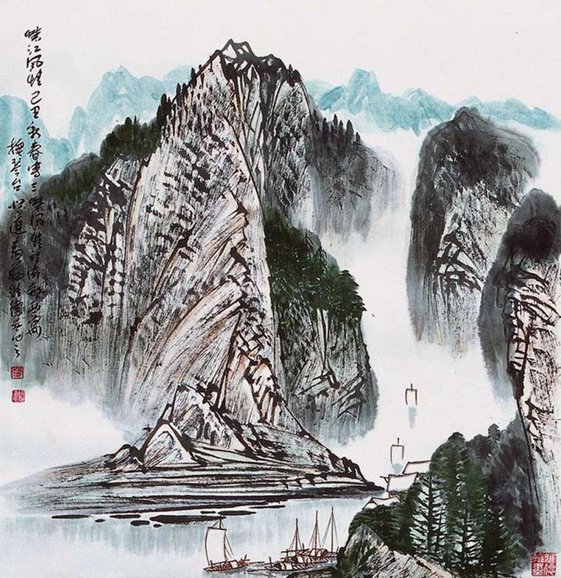 蒋维德画家《层林尽染 浩气千里》图片