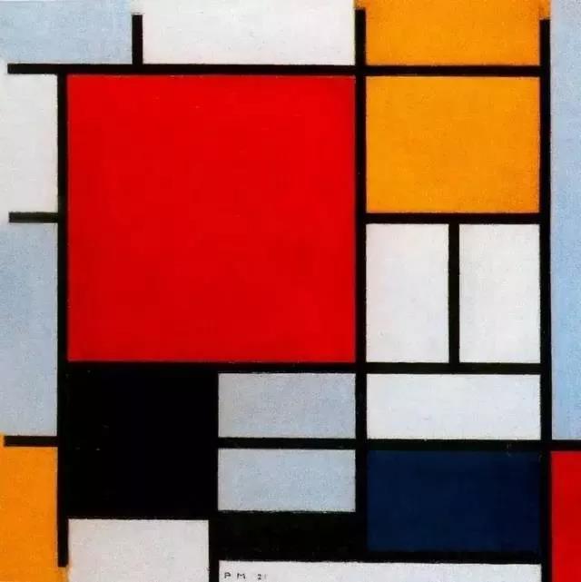 (1965年,以这些格子画为灵感创作的蒙德里安裙,直接进入了时装史的殿堂,各大时尚品牌更是轮番模仿)   彼埃·蒙德里安是风格派运动幕后艺术家和非具象绘画的创始者之一,上面的格子画都是他的代表作.