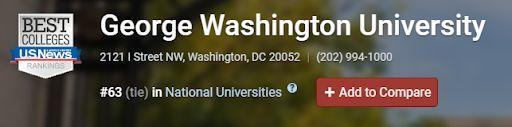喬治華盛頓大學 GWU 轉學指南